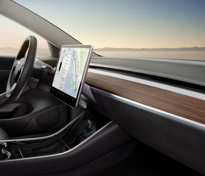 Tesla Model 3 - minimalistisches Innenraum Design
